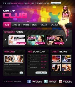 Night club v2.5 Joomla template