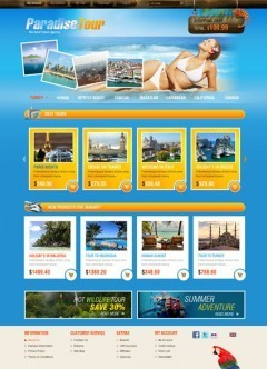 Travel Agency OpenCart template