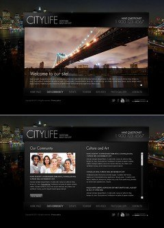 City Life HTML5 template
