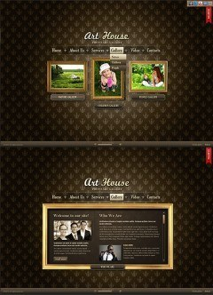 Art Gallery HTML5 template