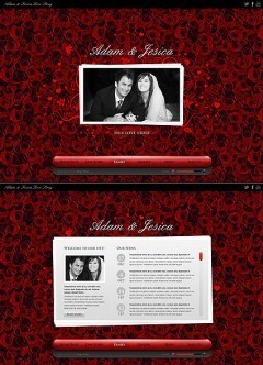 Love Story HTML5 template