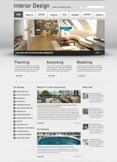 Interior Design v2.5 Joomla template