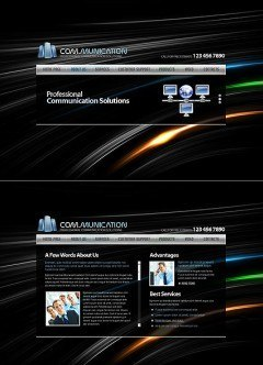 Communications HTML5 template