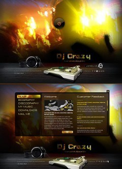 DJ Music HTML5 template