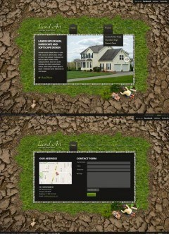 Land Art HTML5 template