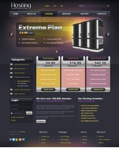 Web hosting v2.5 Joomla template