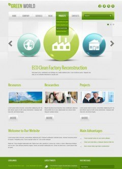 Green energy v2.5 Joomla template