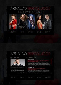 Fashion Designer HTML5 template