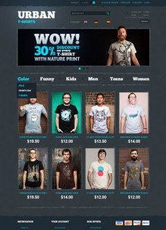 T-Shirts OpenCart template