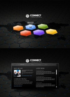 Communication HTML5 template
