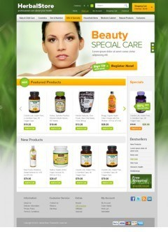 Herbal OpenCart template