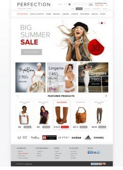 Clothes OpenCart template