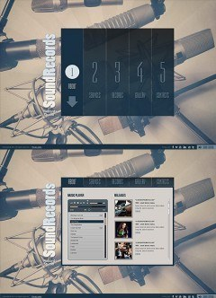 Sound Records HTML5 template