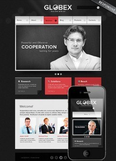 Global Business Wordpress template