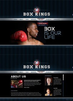 Boxing Club HTML5 template