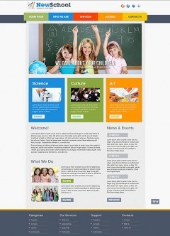 School html dreamweaver template