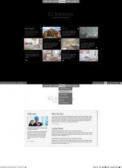 Black White Interior HTML5 template