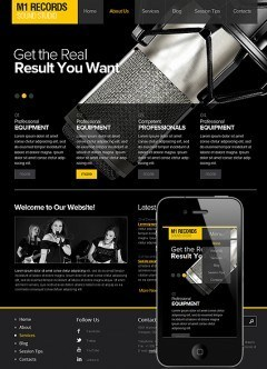 Sound Studio Wordpress template