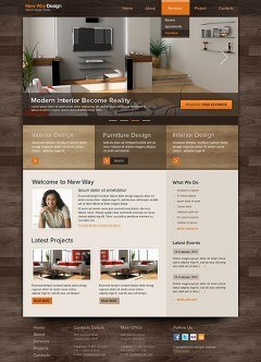 Interior Design HTML template