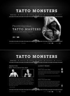 Tatto and piercing HTML5 template