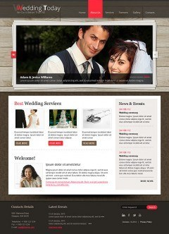 Wedding Planner html dreamweaver template