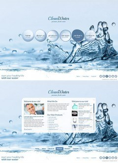 Clean Water HTML5 template