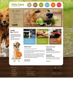 Pet Care html dreamweaver template