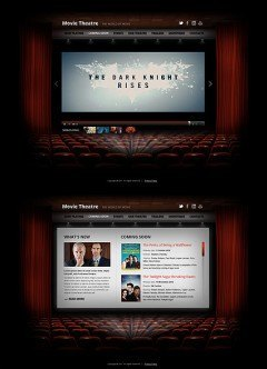 Movie Theatre HTML5 template