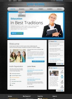 School v2.5 Joomla template