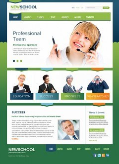 New School html dreamweaver template