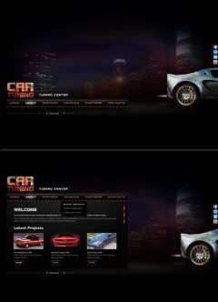 Car Tuning HTML5 template