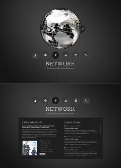 Network HTML5 template