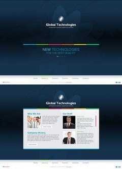 New Technology HTML5 template