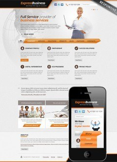 Express Business Wordpress template