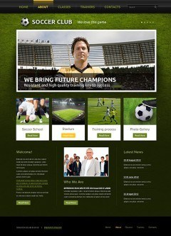 Soccer Club html dreamweaver template
