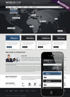 World Business Bootstrap template