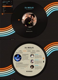 DJ Page HTML5 template