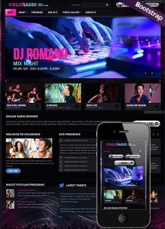 ColoRadio Bootstrap template
