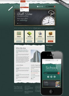 School Theme Wordpress template