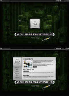 Electronic repair HTML5 template
