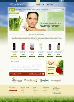 Healthy Life OpenCart template