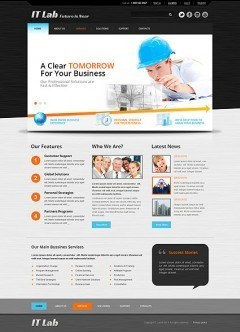 IT Laboratory Bootstrap template