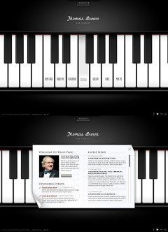 The Pianist HTML5 template