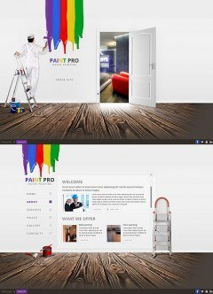 House Painter HTML5 template