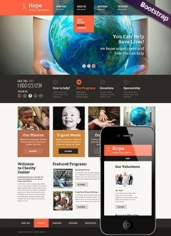 Children Charity Bootstrap template