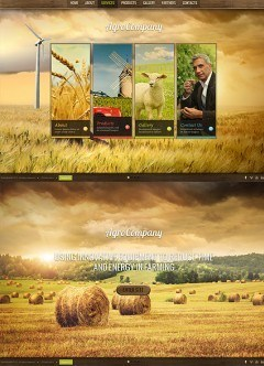 Agro Company HTML5 template