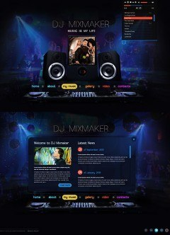 DJ Mix HTML5 template