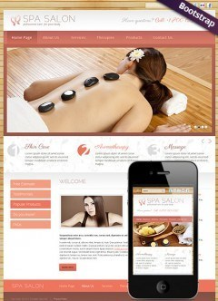 Spa Salon Bootstrap template