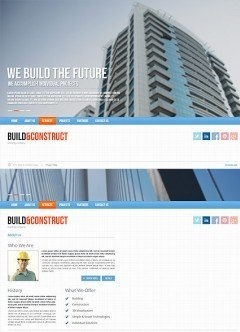 Build and construct HTML5 template