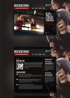 Boxing HTML5 template